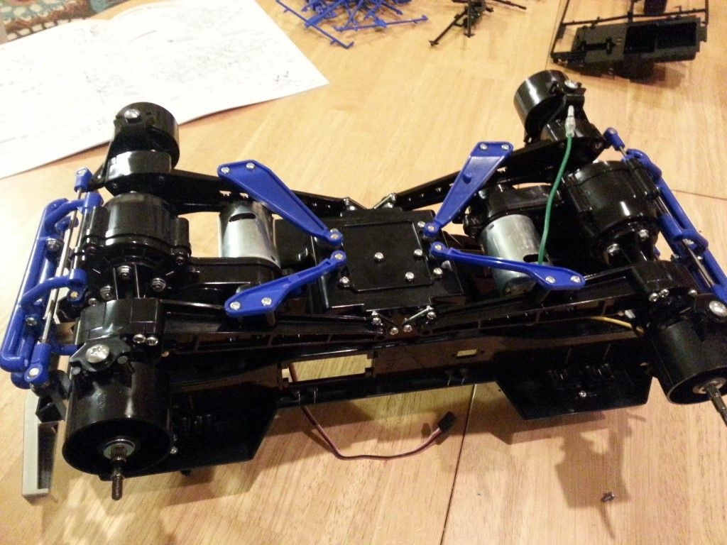 Gearboxes attached to chassis