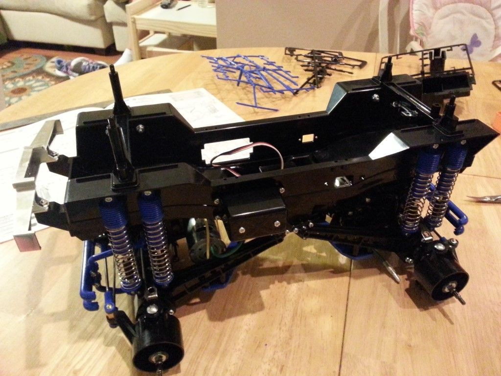 Shocks attached to chassis